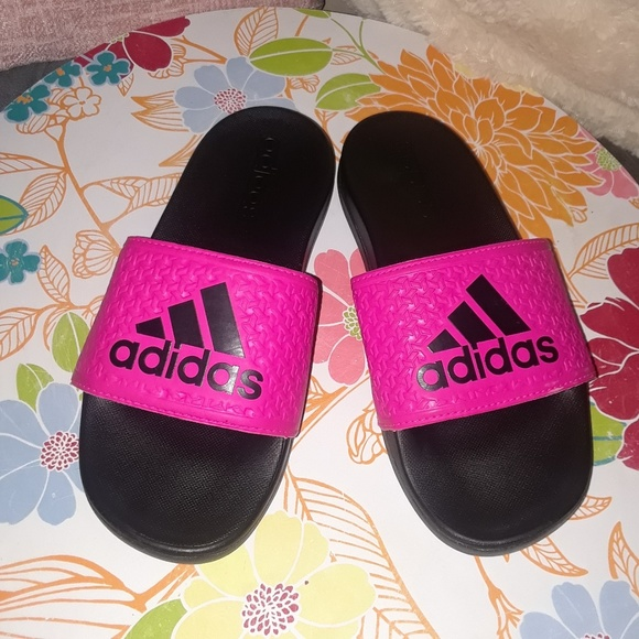 7ab09bec259a4a Adidas Other - Girl s Adidas Hot Pink Slides